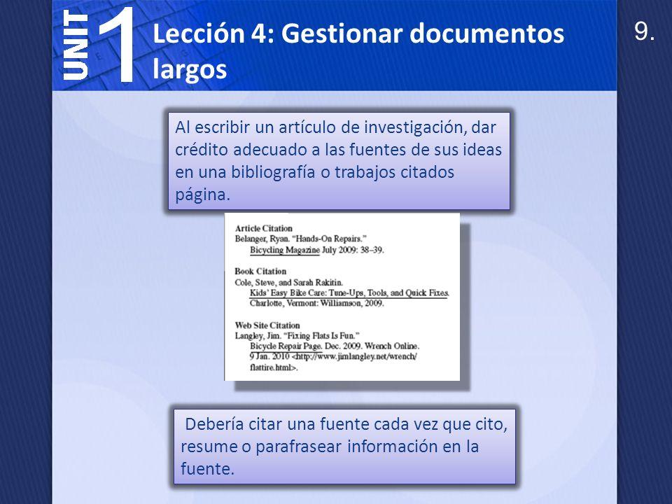 Las citas entre paréntesis (en texto) en el cuerpo del informe nota el nombre del autor y la página donde se encuentra la citada información.