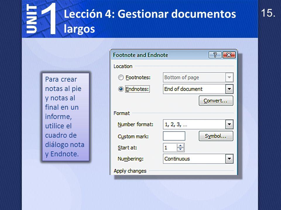 Una tabla de contenido enumera los temas en un documento junto con sus números de página.