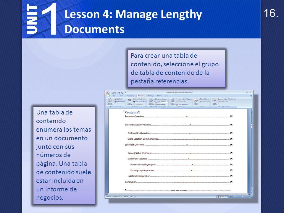 Números de página, títulos y secciones cambian a menudo como crear y modificar un documento.