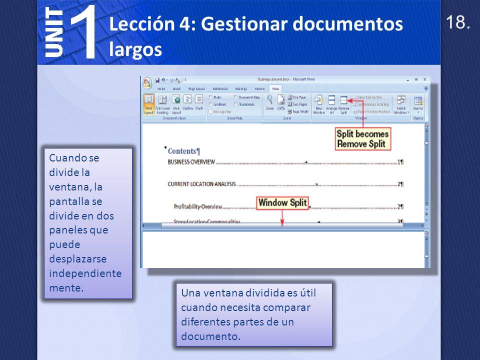Abrir dos ventanas lado a lado le permite comparar el contenido de documentos relacionados.