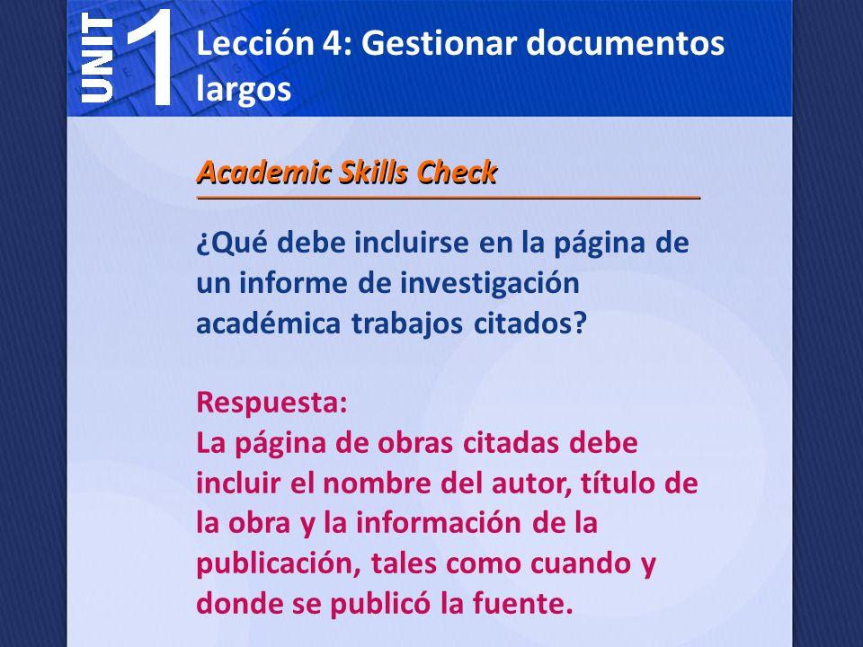 ¿Cuándo debe usted citar una fuente en un documento de investigación académica.