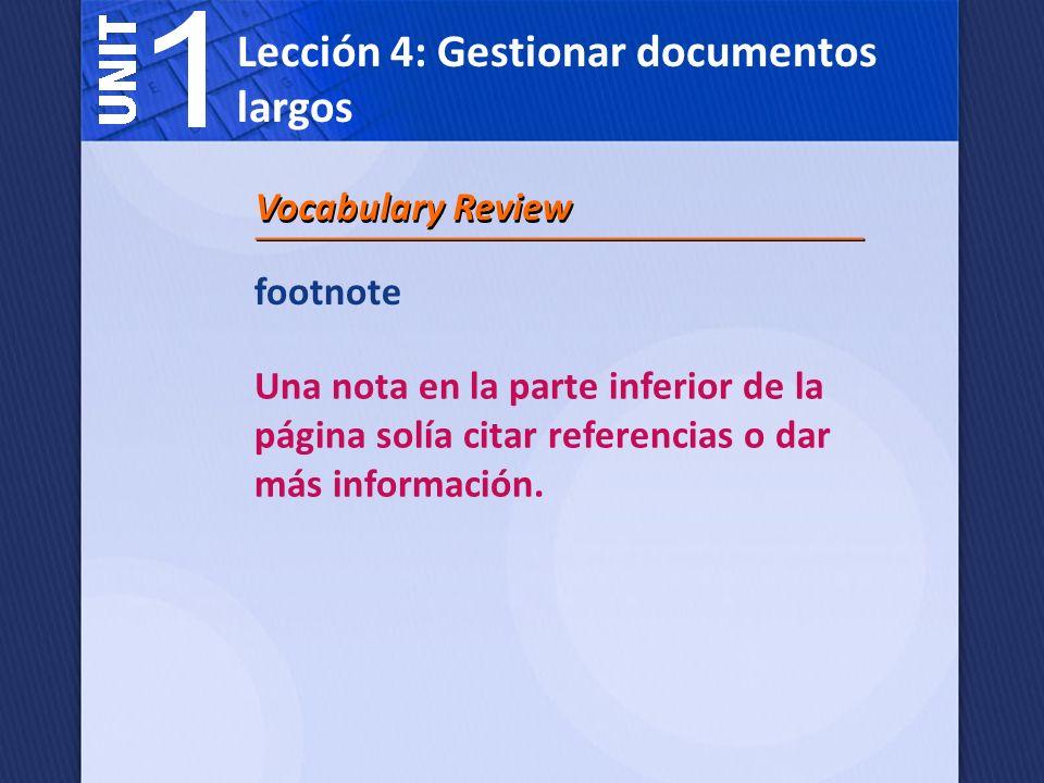 bibliography Una lista de obras citadas en un informe.
