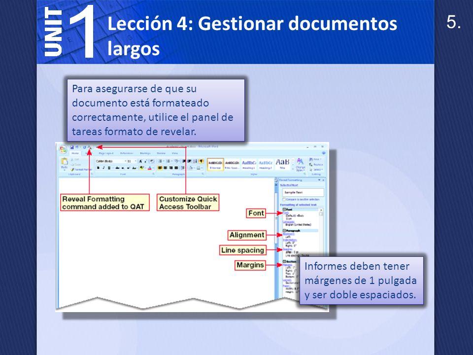 Cuando se crea un informe en formato MLA, coloque un encabezado en la parte superior de la primera página del informe.