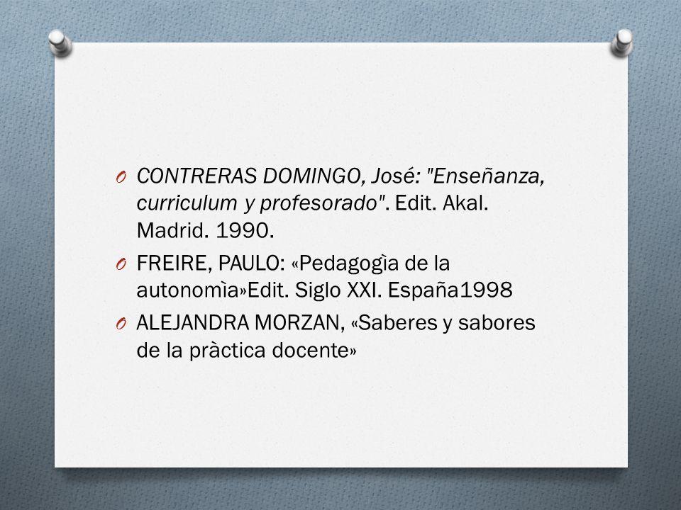O CONTRERAS DOMINGO, José: