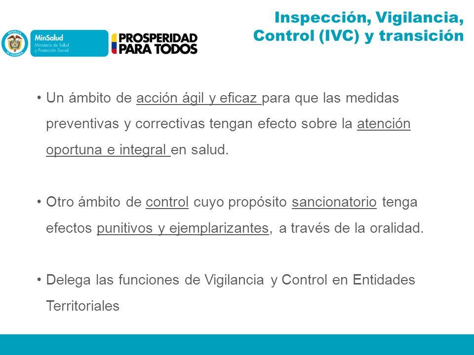 Inspección, Vigilancia, Control (IVC) y transición Un ámbito de acción ágil y eficaz para que las medidas preventivas y correctivas tengan efecto sobr