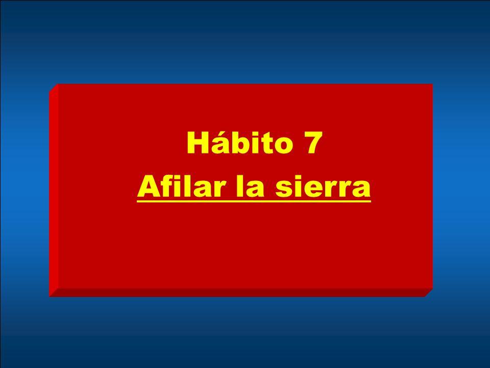 Hábito 7 Afilar la sierra