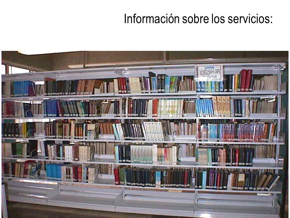 Información sobre los servicios: