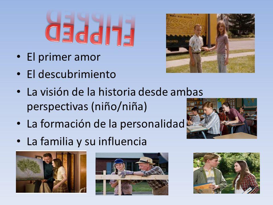 El primer amor El descubrimiento La visión de la historia desde ambas perspectivas (niño/niña) La formación de la personalidad La familia y su influencia