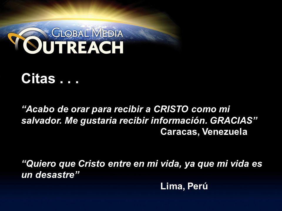 Citas... Acabo de orar para recibir a CRISTO como mi salvador. Me gustaria recibir información. GRACIAS Caracas, Venezuela Quiero que Cristo entre en