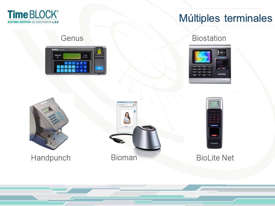 Múltiples terminales GenusBiostation Handpunch Bioman BioLite Net