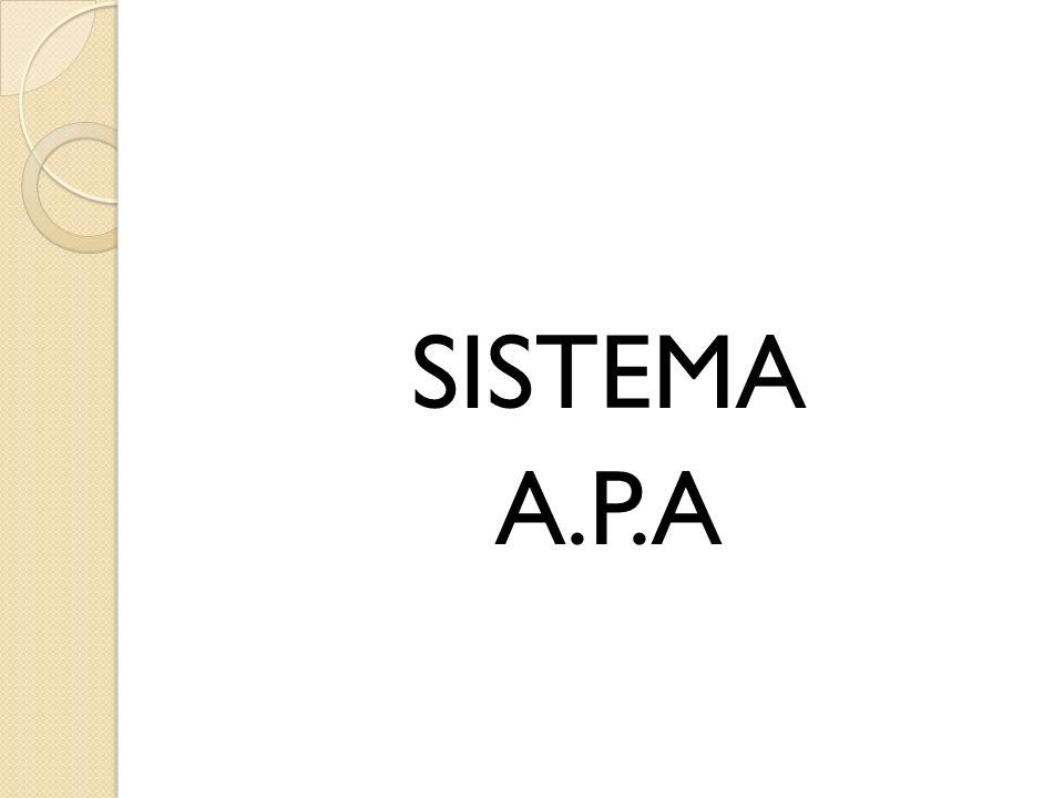 SISTEMA A.P.A