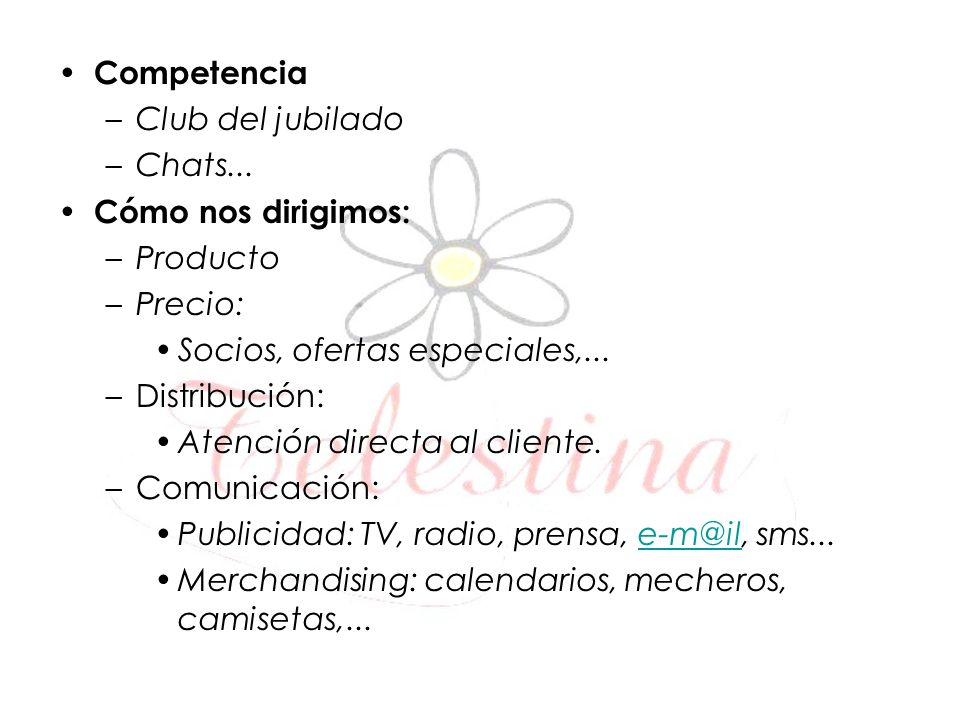 Competencia –Club del jubilado –Chats...