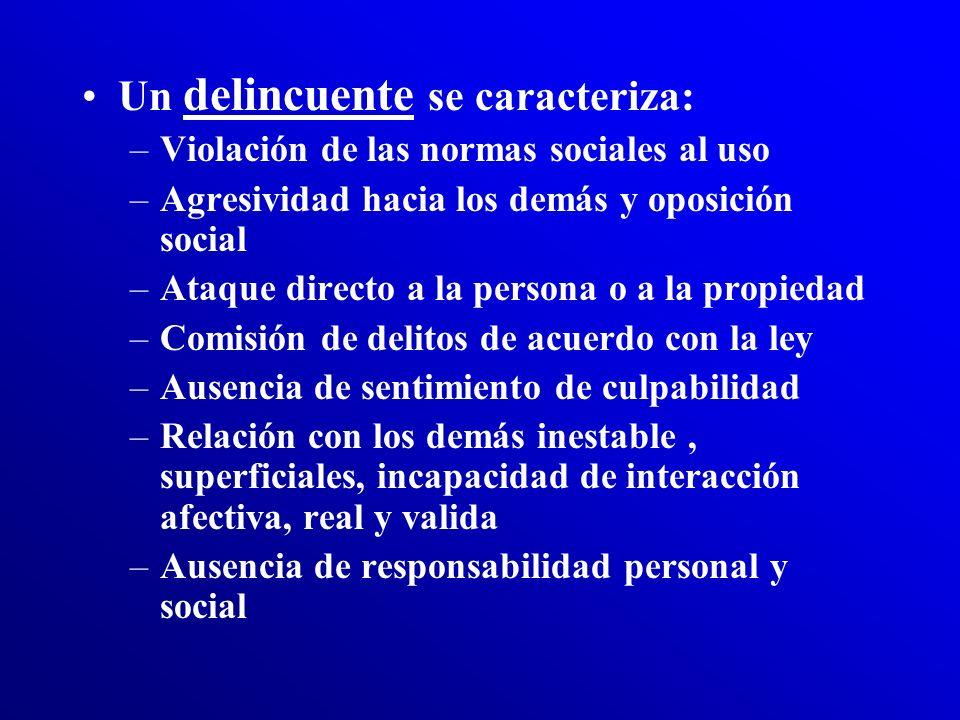 La descripción de criterios: –No resuelve la necesidad de discernir entre la personalidad perturbada o en vías de perturbación –De los trastornos de c