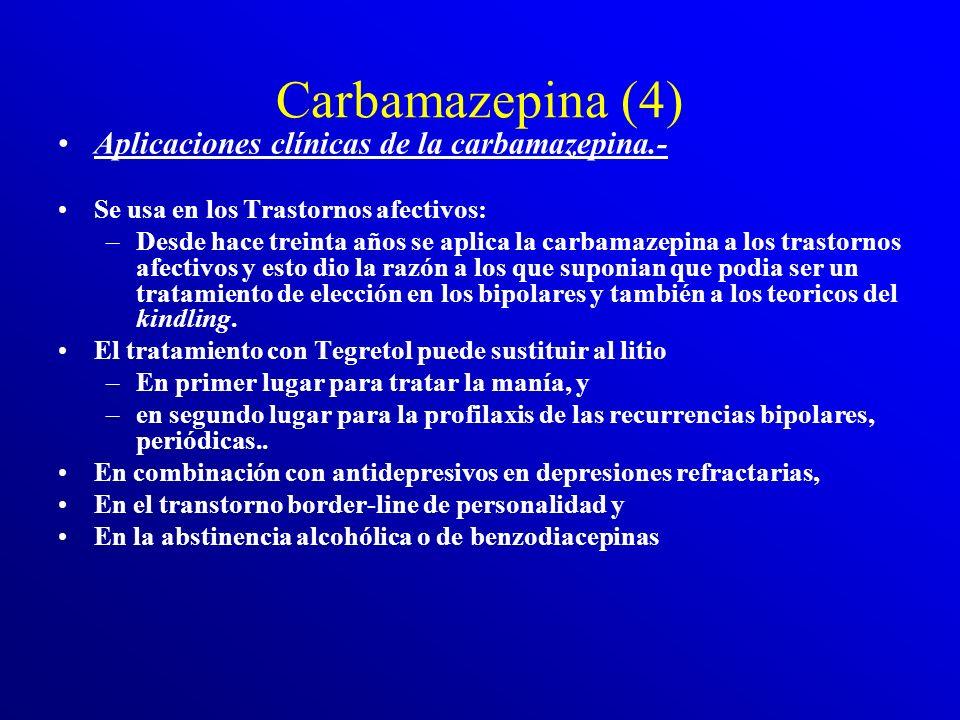 Carbamazepina (3) El fenómeno kindling (Goddar 1969), es una sensibilización subcortical por estímulos eléctricos intermitentes que no llegan a produc