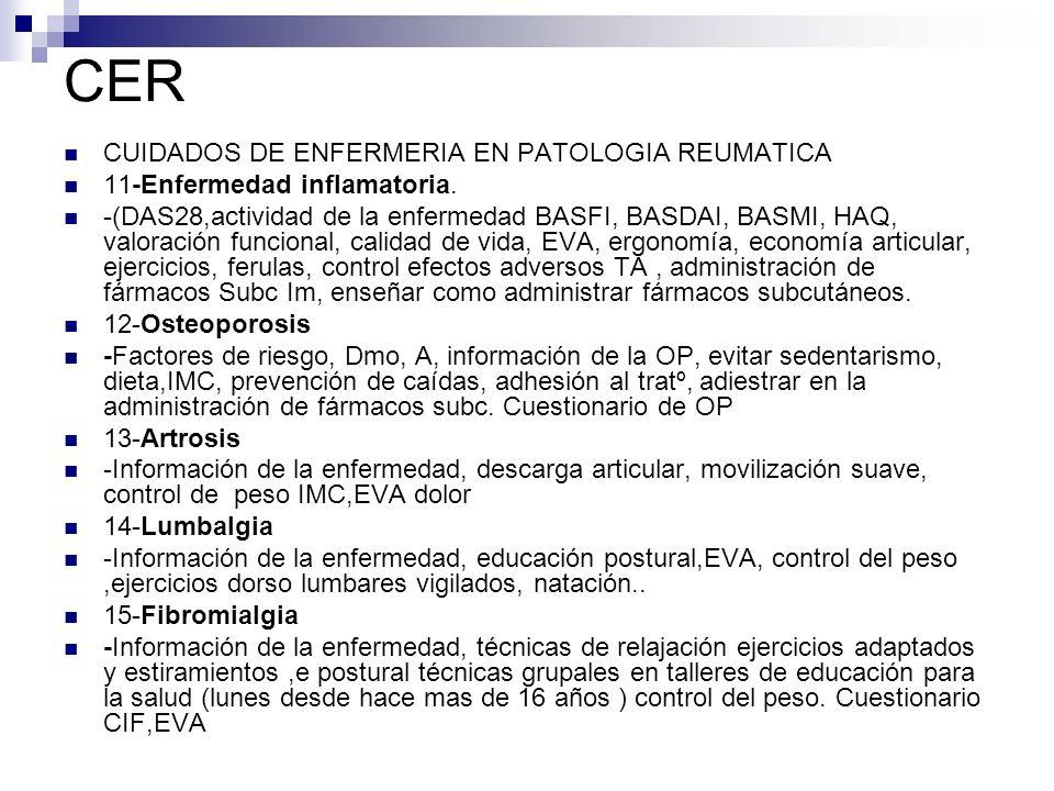 CER CUIDADOS DE ENFERMERIA EN PATOLOGIA REUMATICA 11-Enfermedad inflamatoria.