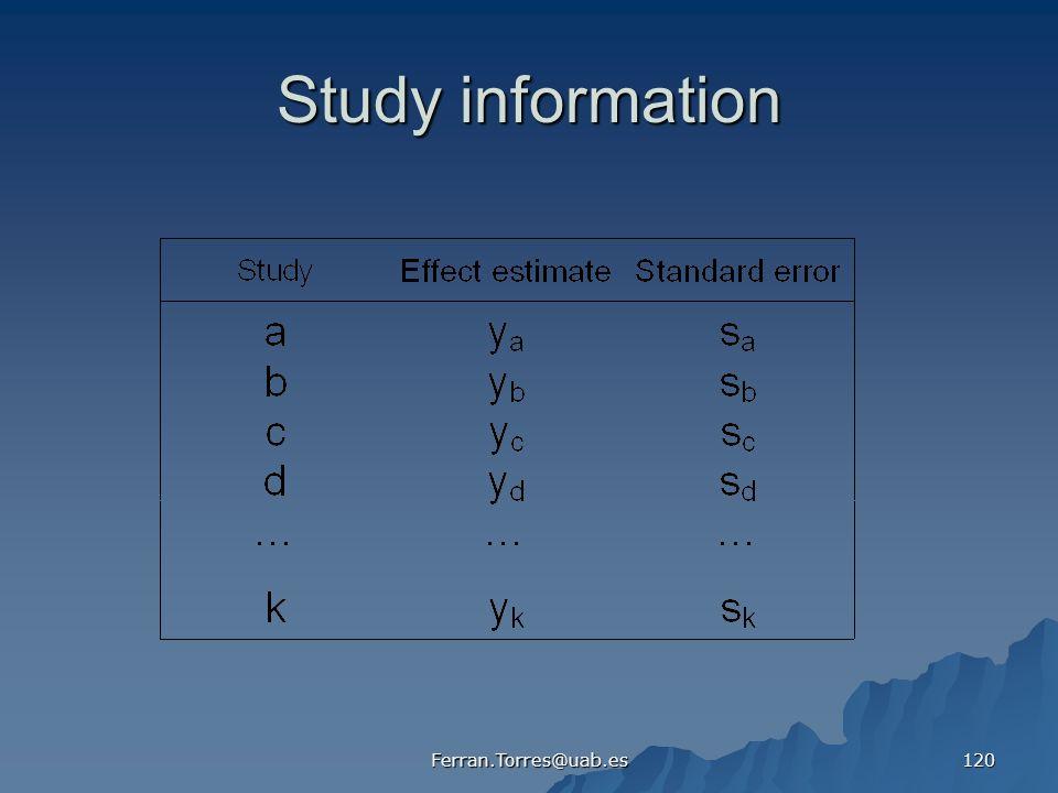 Ferran.Torres@uab.es 120 Study information
