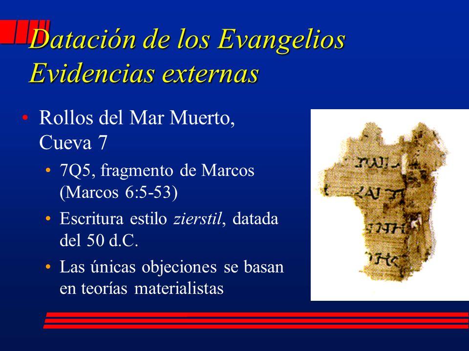 Rollos del Mar Muerto, Cueva 7 7Q5, fragmento de Marcos (Marcos 6:5-53) Escritura estilo zierstil, datada del 50 d.C.