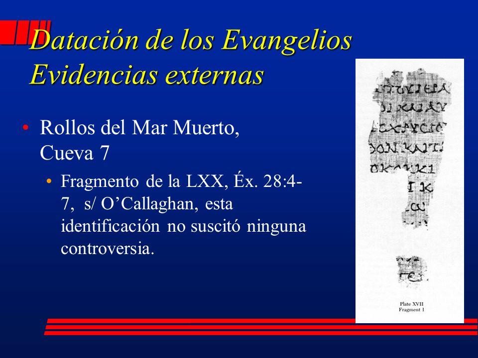 Rollos del Mar Muerto, Cueva 7 Fragmento de la LXX, Éx.