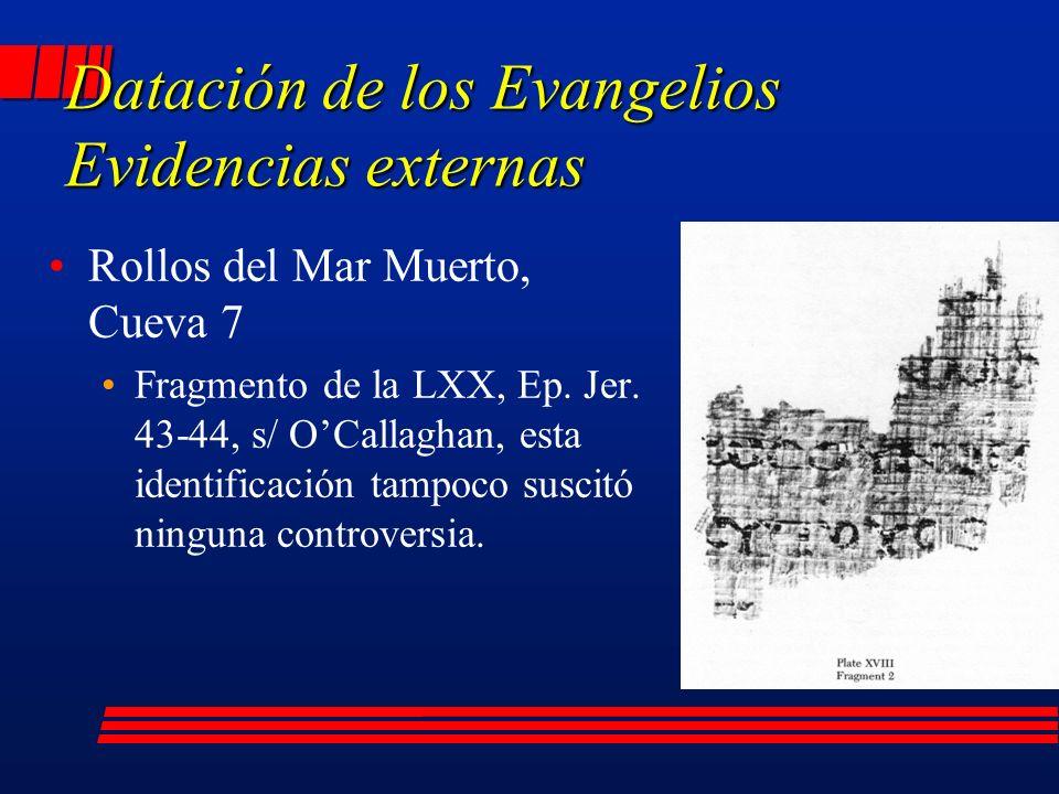 Rollos del Mar Muerto, Cueva 7 Fragmento de la LXX, Ep.