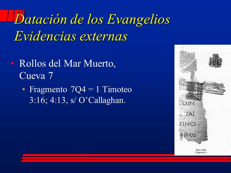 Rollos del Mar Muerto, Cueva 7 Fragmento 7Q4 = 1 Timoteo 3:16; 4:13, s/ OCallaghan.
