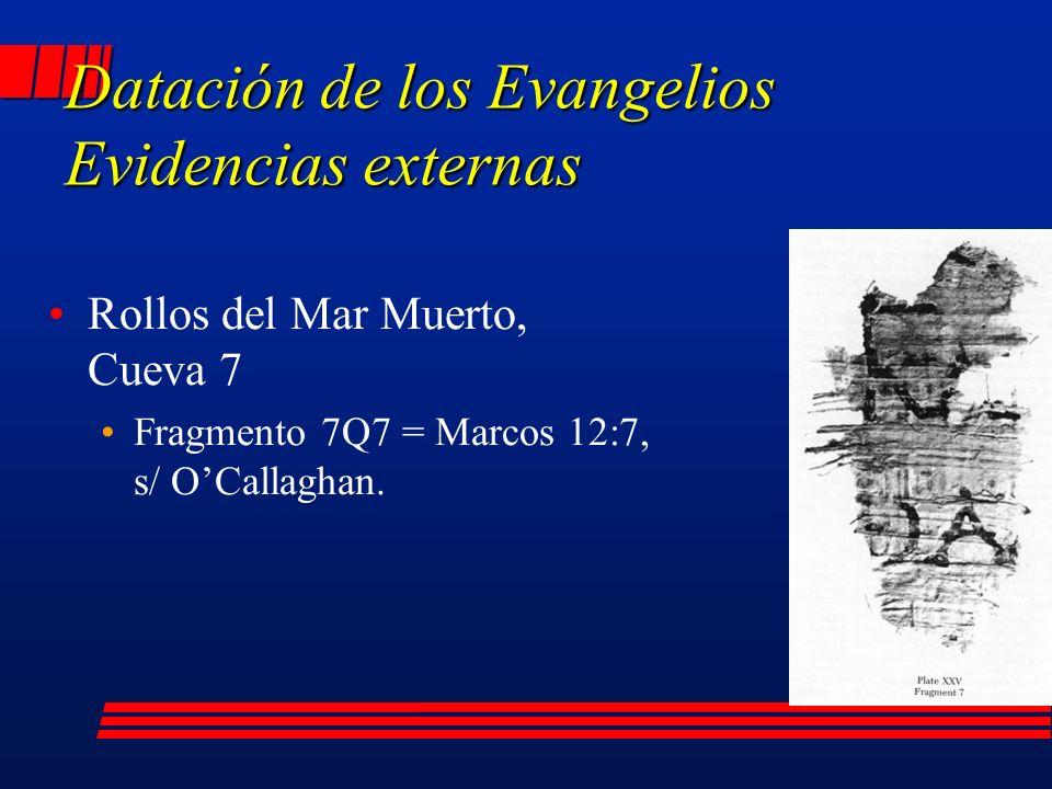 Rollos del Mar Muerto, Cueva 7 Fragmento 7Q7 = Marcos 12:7, s/ OCallaghan.