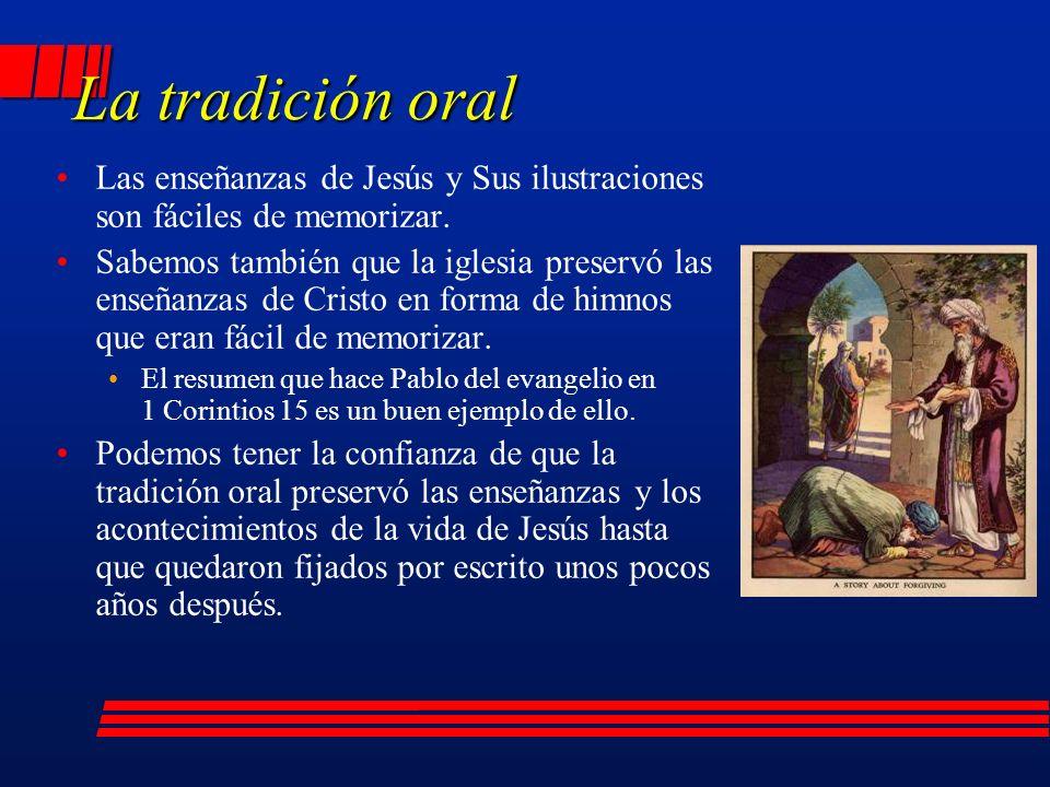 Las enseñanzas de Jesús y Sus ilustraciones son fáciles de memorizar.