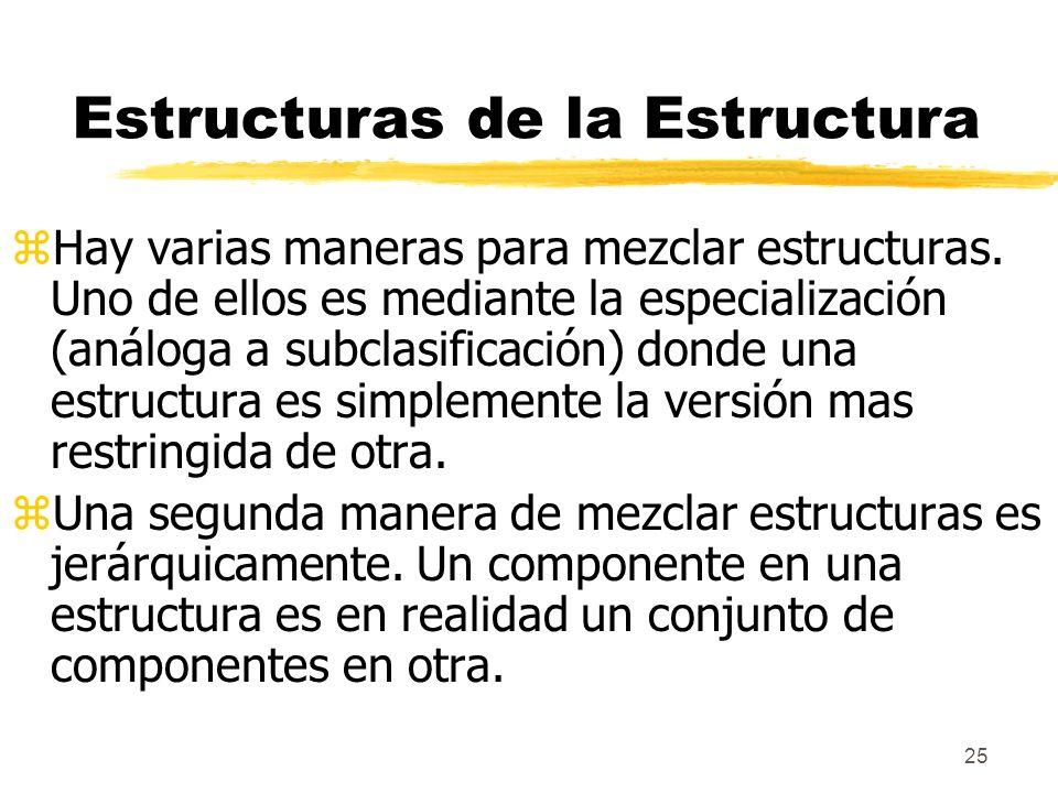 25 Estructuras de la Estructura zHay varias maneras para mezclar estructuras.