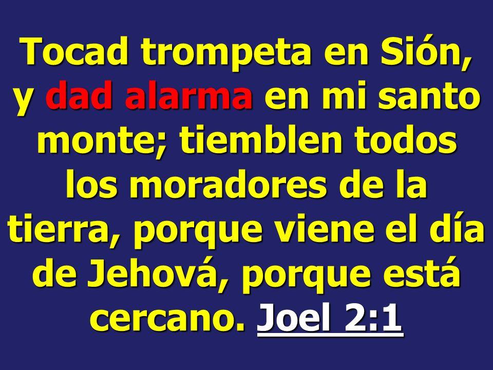 Esta mal dar la alarma? No. La alarma será dada por hombres escogidos por Dios. Evangelismo pág. 127 De dónde viene la alarma? De Dios. Y como yo lo s