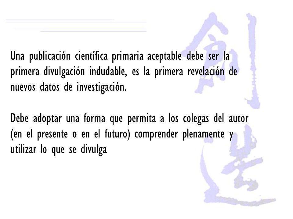 Cómo presentar el manuscrito a la revista Seleccione una revista que este relacionada con su área de investigación.