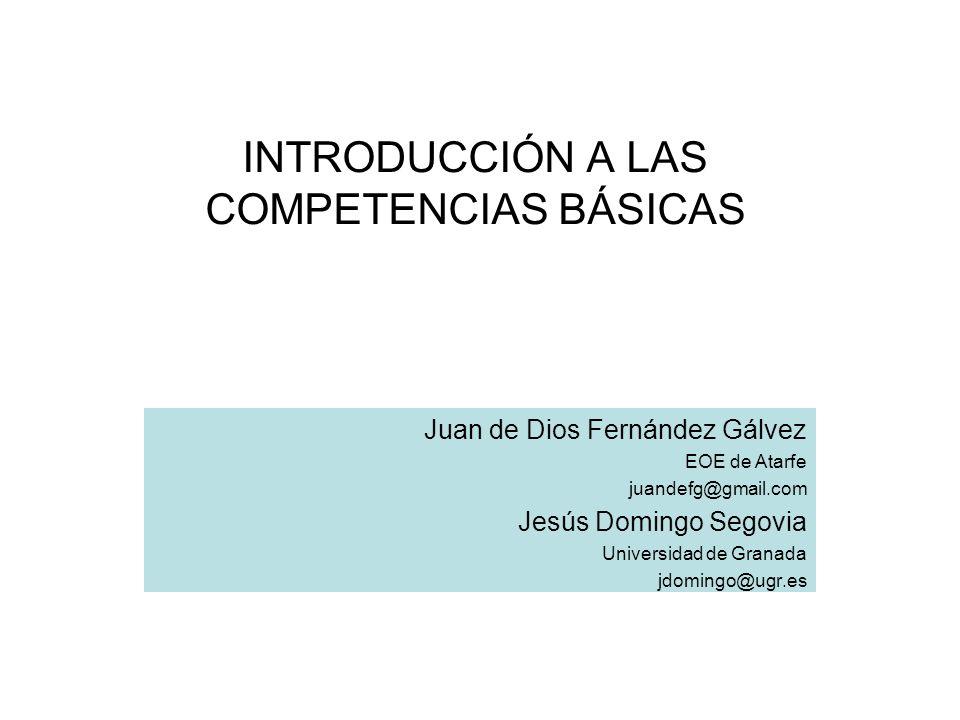 CONTENIDOS Proceso de aparición de las competencias en Europa y en España.