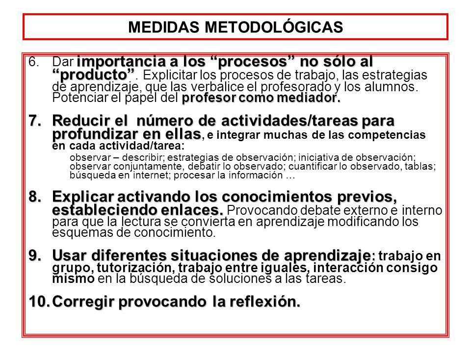 importancia a los procesos no sólo al producto profesor como mediador. 6.Dar importancia a los procesos no sólo al producto. Explicitar los procesos d