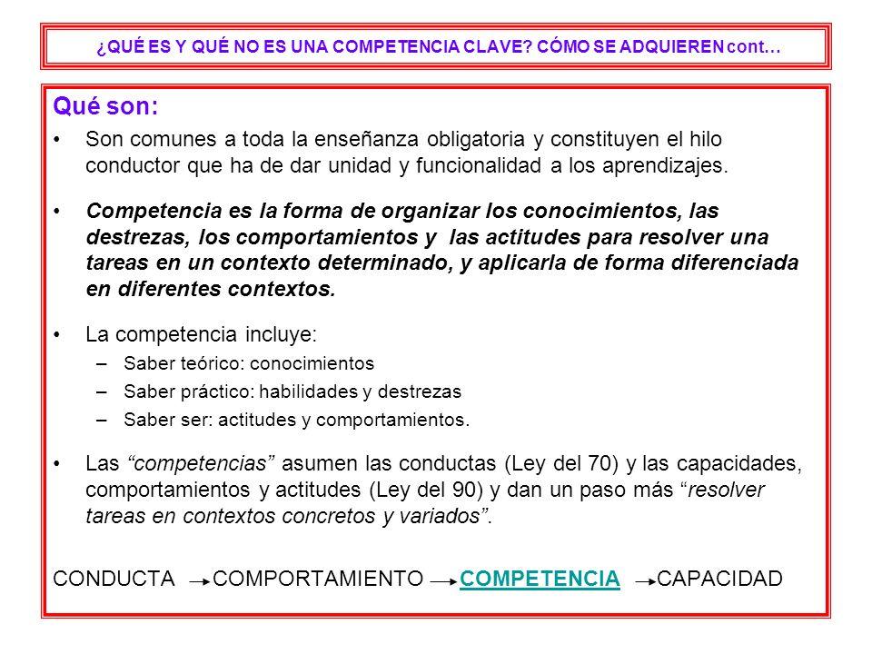 CAPACIDAD, COMPETENCIA, COMPORTAMIENTO, CONDUCTA Comprender textos escritos en lengua castellana.