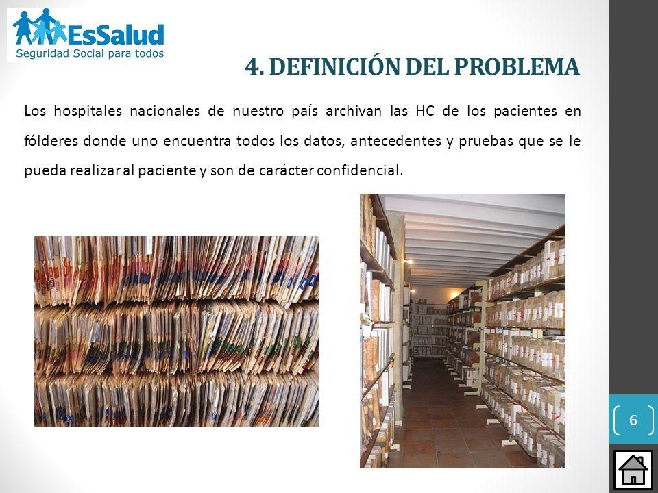 Los hospitales nacionales de nuestro país archivan las HC de los pacientes en fólderes donde uno encuentra todos los datos, antecedentes y pruebas que
