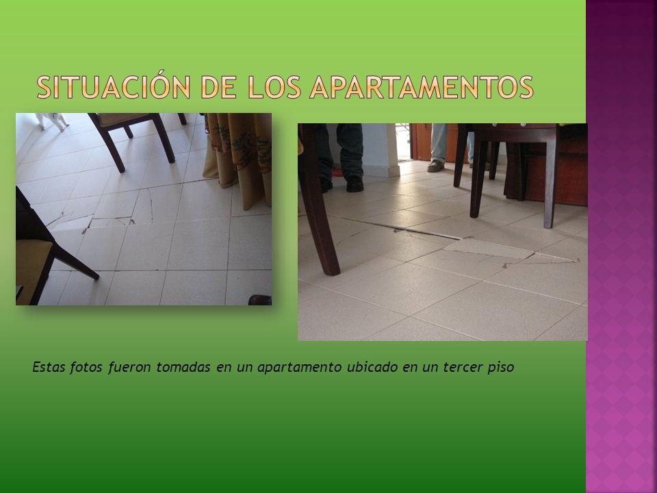 Estas fotos fueron tomadas en un apartamento ubicado en un tercer piso