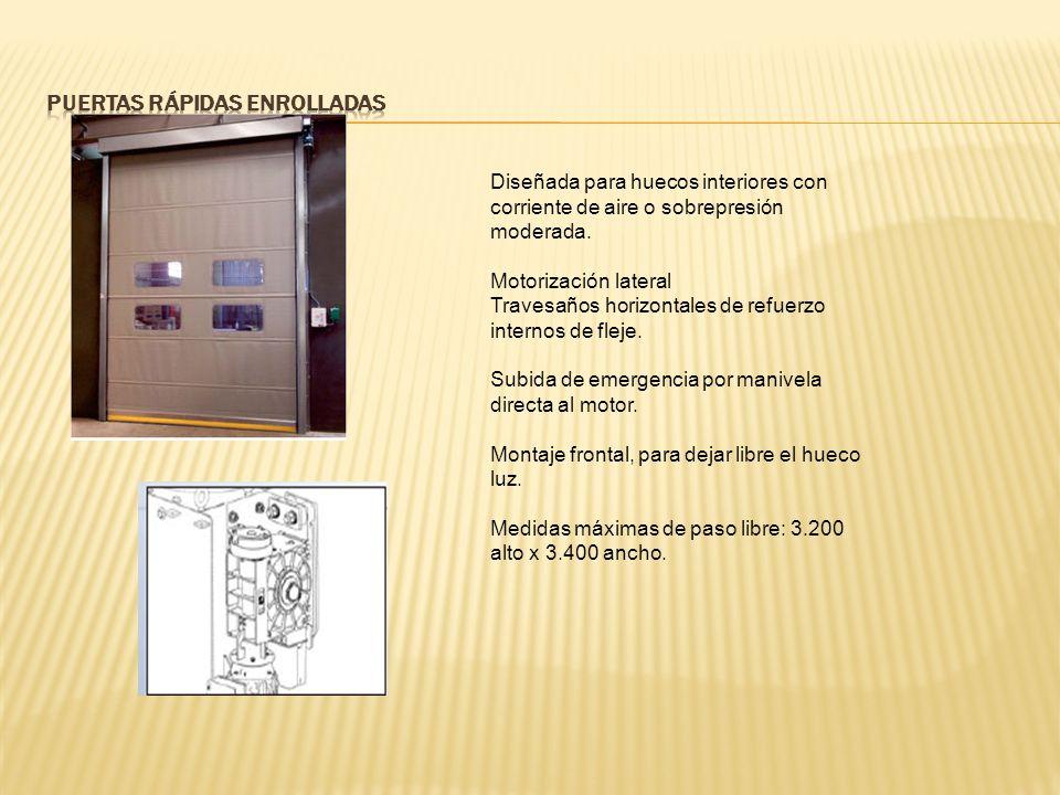 Diseñada para huecos interiores con corriente de aire o sobrepresión moderada.