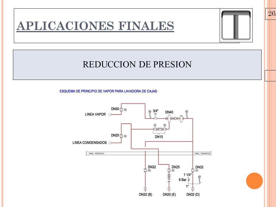 26/10/09 APLICACIONES FINALES REDUCCION DE PRESION