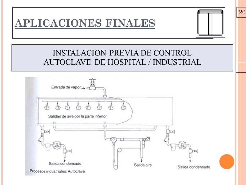 26/10/09 APLICACIONES FINALES INSTALACION PREVIA DE CONTROL AUTOCLAVE DE HOSPITAL / INDUSTRIAL
