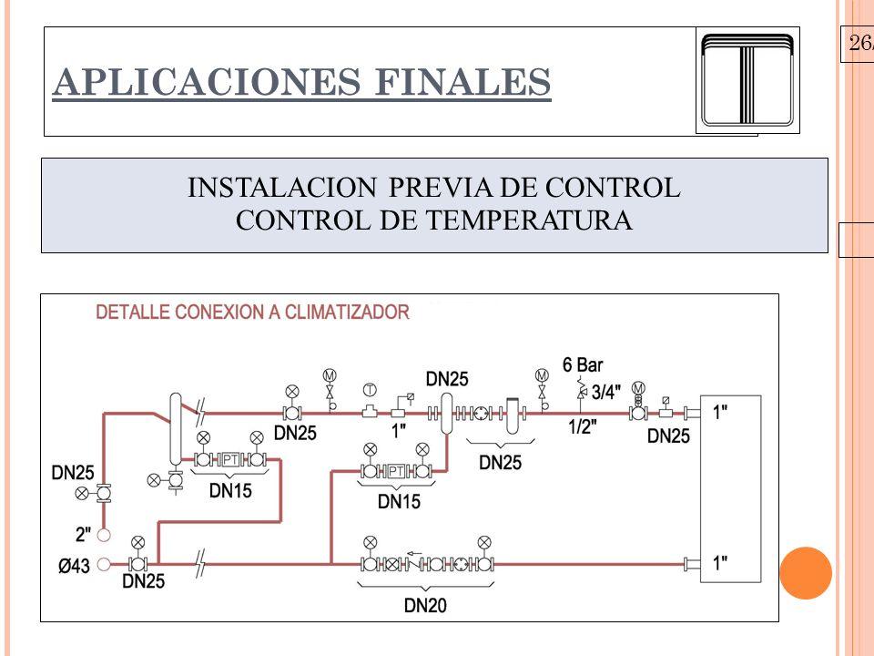 26/10/09 APLICACIONES FINALES INSTALACION PREVIA DE CONTROL CONTROL DE TEMPERATURA