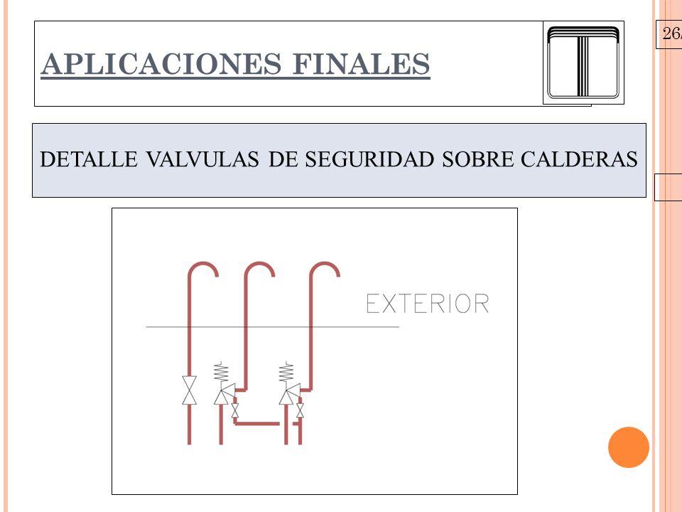 26/10/09 APLICACIONES FINALES DETALLE VALVULAS DE SEGURIDAD SOBRE CALDERAS