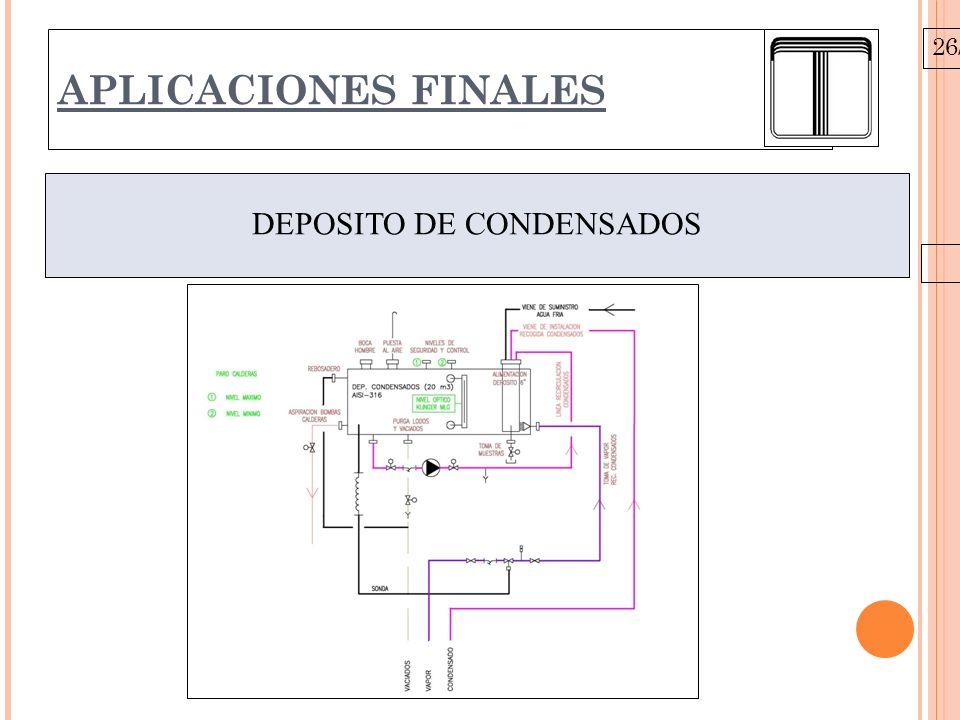 26/10/09 APLICACIONES FINALES DEPOSITO DE CONDENSADOS
