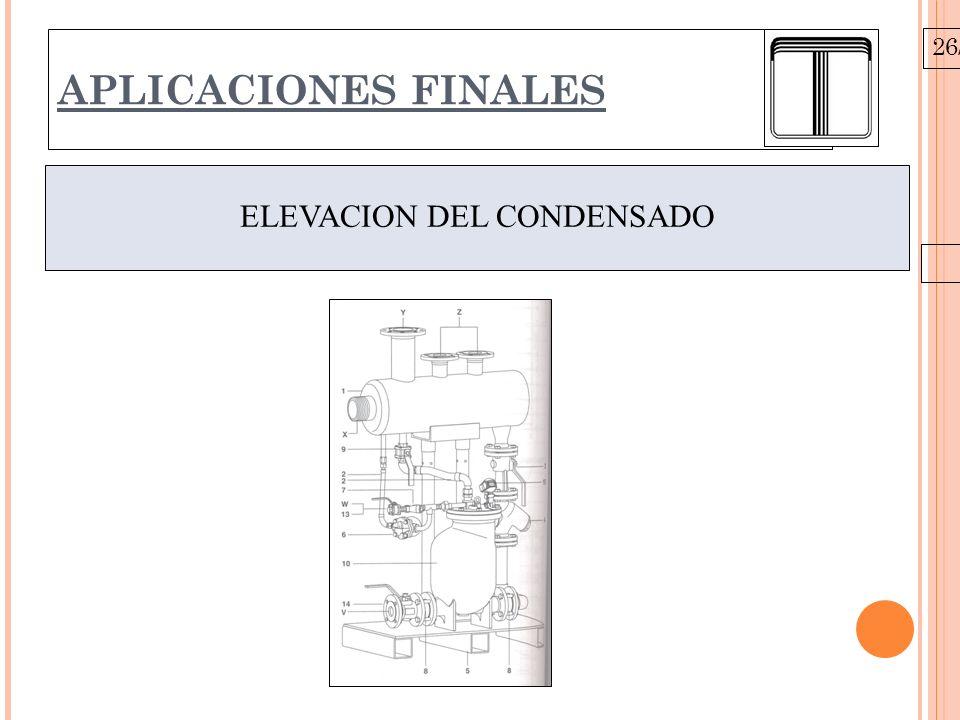 26/10/09 APLICACIONES FINALES ELEVACION DEL CONDENSADO