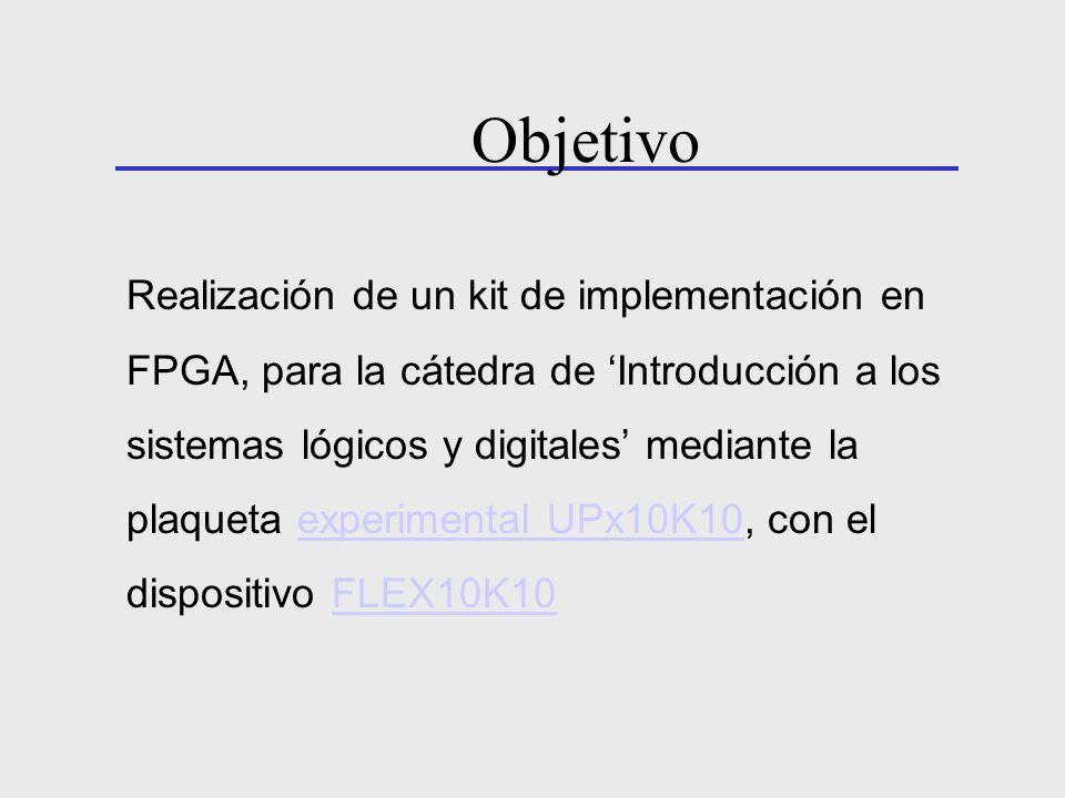 Realización de un kit de implementación en FPGA, para la cátedra de Introducción a los sistemas lógicos y digitales mediante la plaqueta experimental