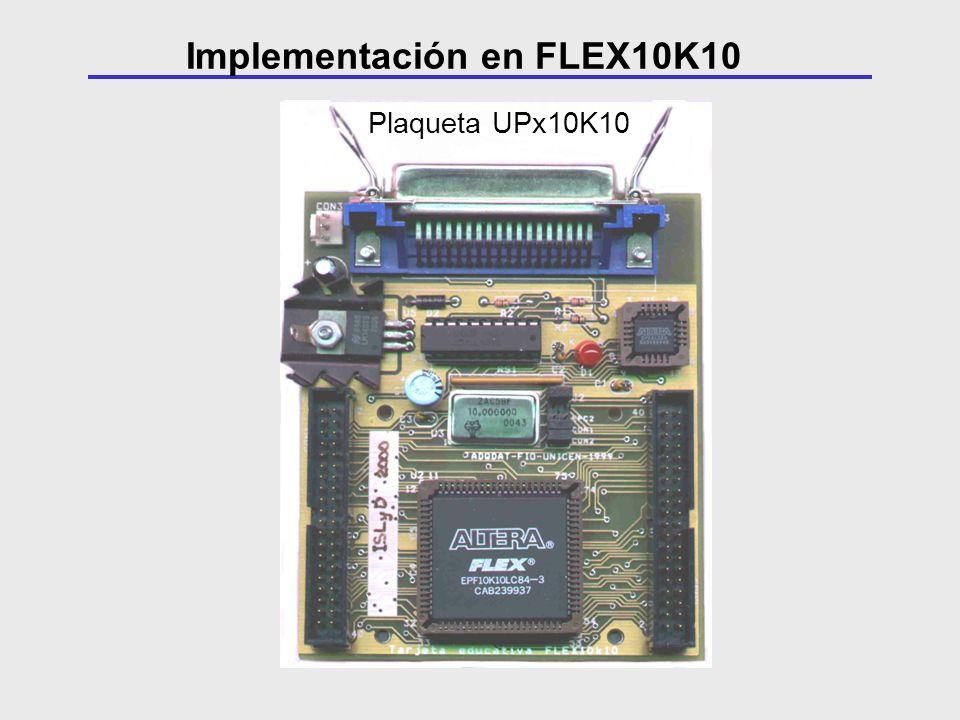 Plaqueta UPx10K10 Implementación en FLEX10K10