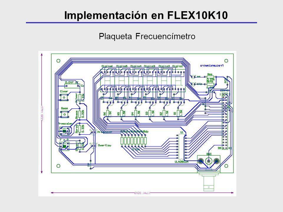 Plaqueta Frecuencímetro Implementación en FLEX10K10