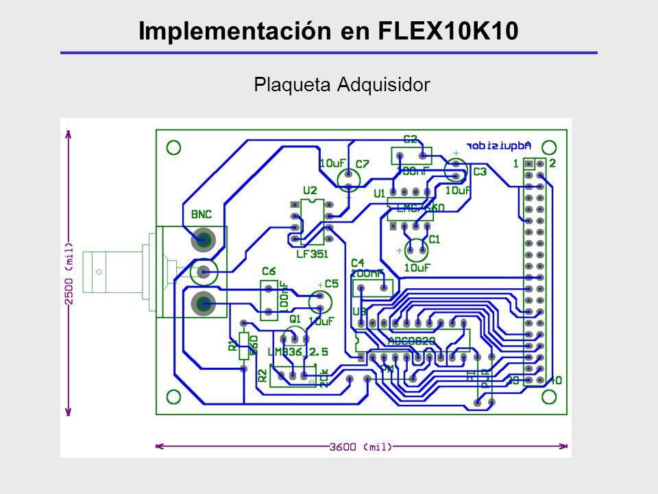 Plaqueta Adquisidor Implementación en FLEX10K10