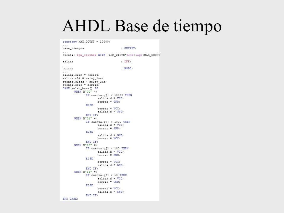 AHDL Base de tiempo