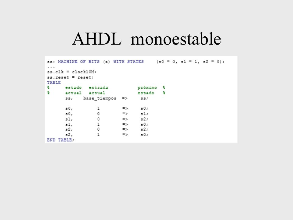 AHDL monoestable