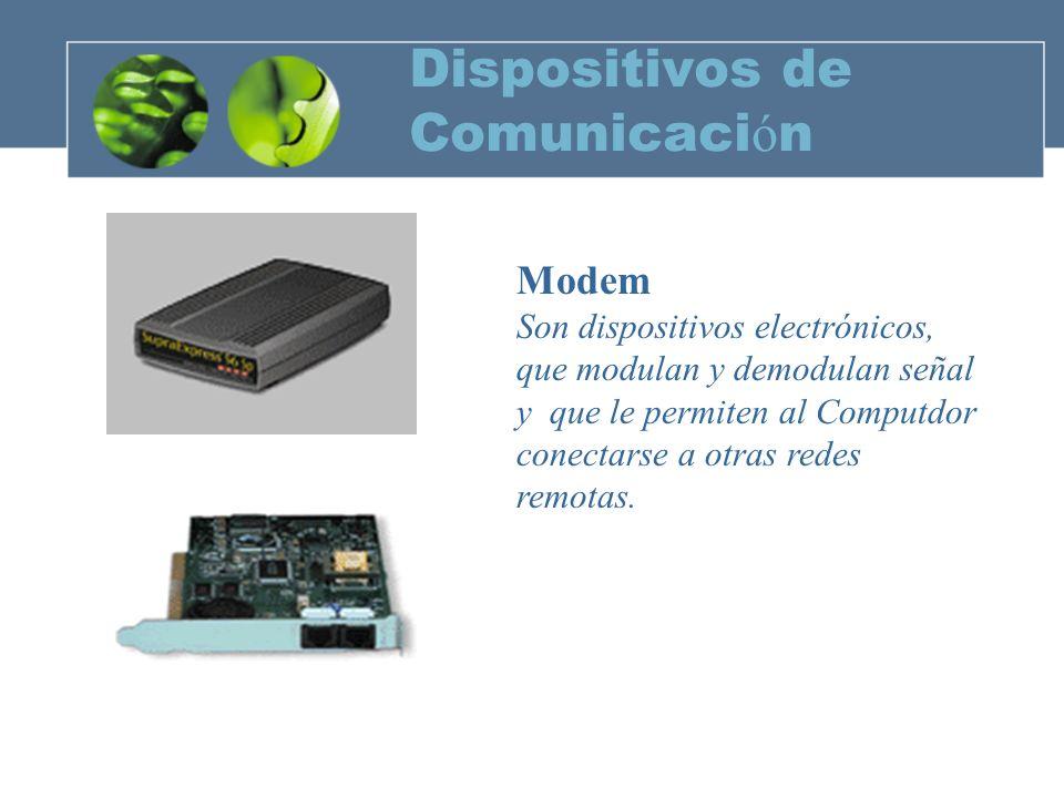 Dispositivos de Comunicaci ó n ROUTER El Router es un dispositivo que va directamente conectado al hub o concentrador de la Red Ethernet mediante una conexión RJ45 y que incorpora un adaptador RDSI o ADSL.