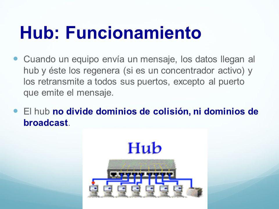 Dispositivos: Bridge o Puente Los puentes son dispositivos que pueden conectar a varias LAN entre sí.