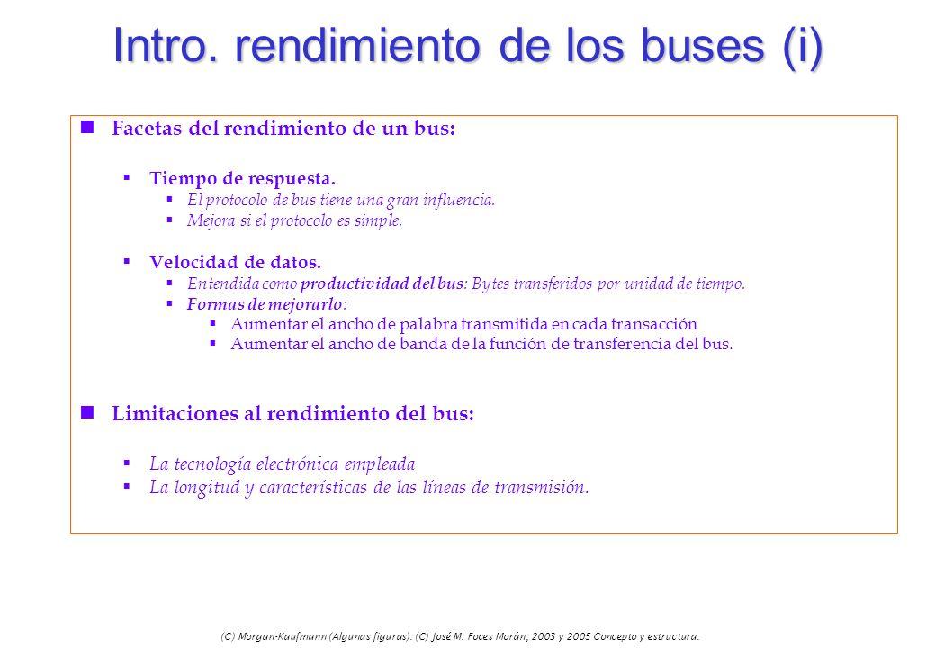 (C) Morgan-Kaufmann (Algunas figuras). (C) José M. Foces Morán, 2003 y 2005 Concepto y estructura. Intro. rendimiento de los buses (i) n Facetas del r
